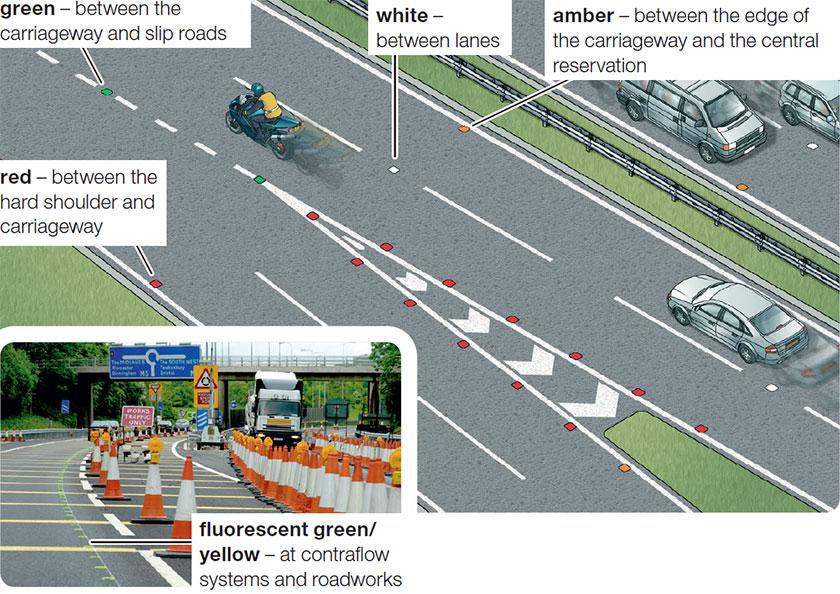 motorway reflective studs